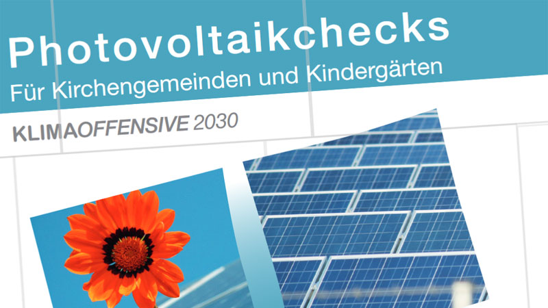 Solarinitiative: Photovoltaikchecks